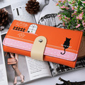 New Design Women Wallet Patent Leather Candy Colors Cute Change Purses Lady Fashion Cat Clutches Hasp Mobile Bag Coin Case Purse