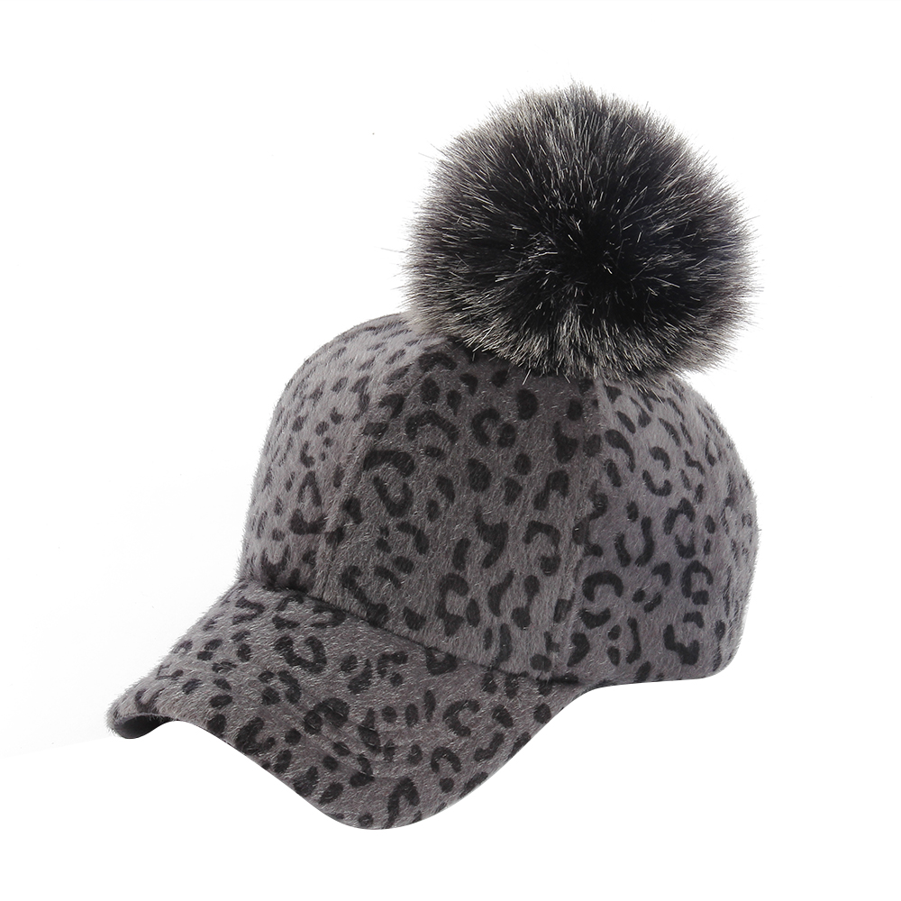 f178d48a0fd FOXMOTHER 2018 New Fashion Winter Women Ladies Brown Grey Leopard ...
