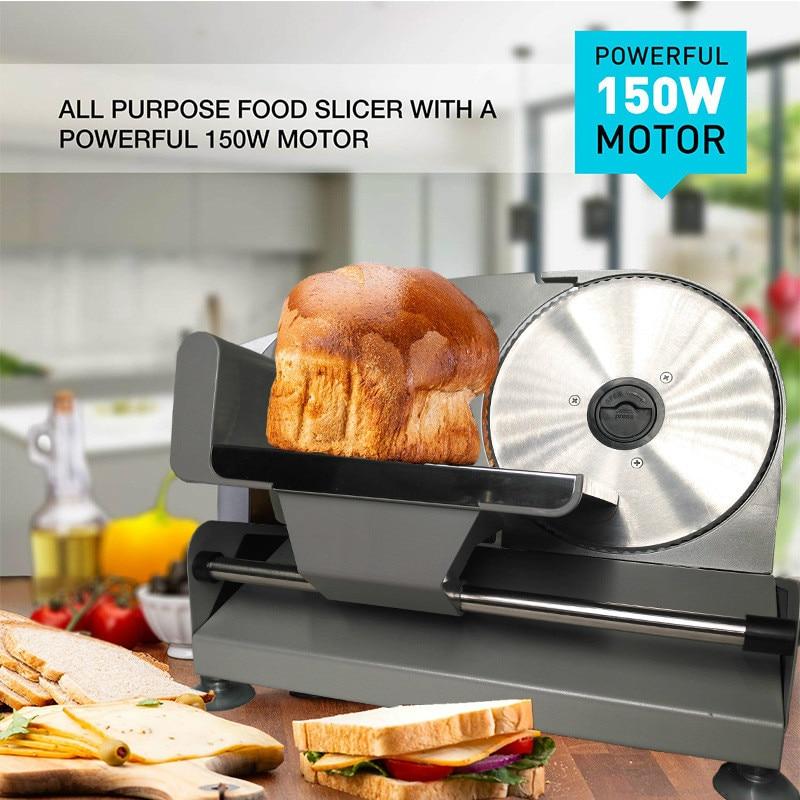 Electric Meat Slicer Mutton Roll Frozen Beef Cutter Lamb Vegetable Slicing Machine Stainless Steel Grinder 110V 220V EU US