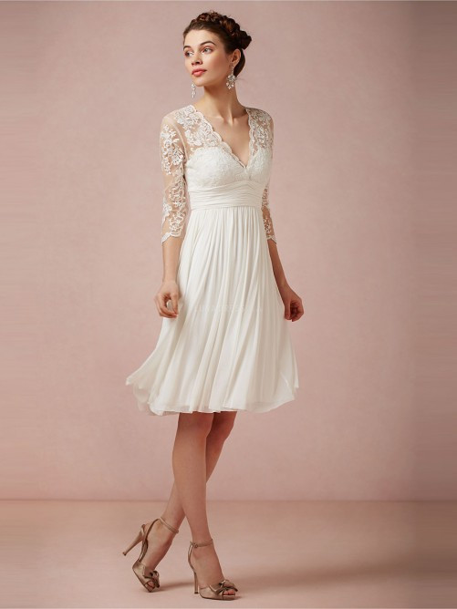 Online Buy Wholesale three quarter sleeve wedding dress from China ...