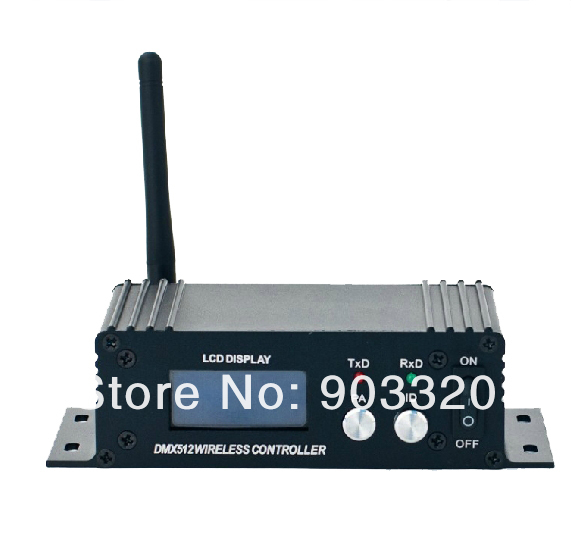 1X LOT Free Shipping 2.4Ghz LCD Display Wireless DMX512 Receiver & Transmitter,DMX Wireless Controller for Stage Wifi Par Can dhl free shipping 2 4g dmx512 wireless receiver transmitter and matrix 5x7 display shows the id directly