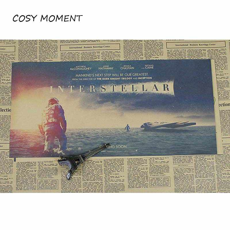 COSY MOMENT Retro Interstellar Movie Kraft Paper Poster Cafe Wall  Decorative Painting Wallpaper Mural Stickers QT3022