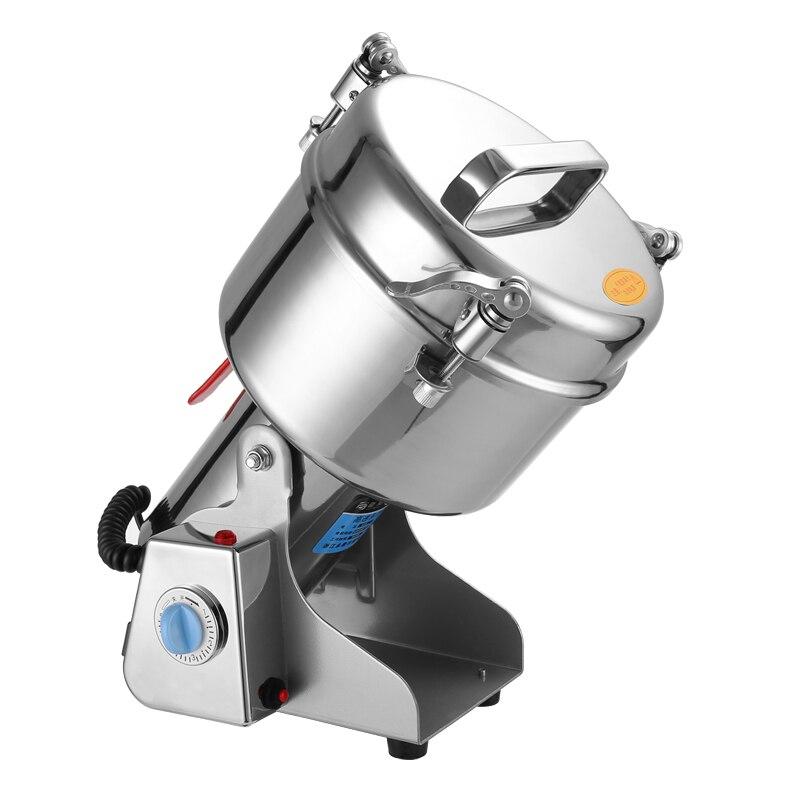 2.5 kg Commecial Électrique herb grinder 2500g Professionnel broyage machine en acier inoxydable 4200 w