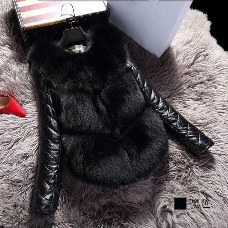 2019 moda outono inverno casaco quente feminino falso pele de raposa colete de alta qualidade jaqueta colete feminino plus size 3xl meu newin