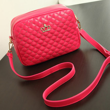 Casual women single shoulder bag diamond lattice PU leather flap