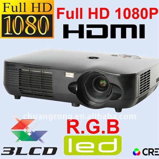 Top Rank Home Theater Video 3LCD 3D Full HD LED 1080P Projector 1920x1080 HDMI
