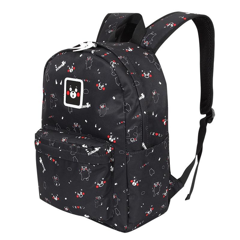 Kumamon Bear Style Intensive Anime Boys Girls Book Bag School Backpack Travel Mochila Rucksack Fashion Trend
