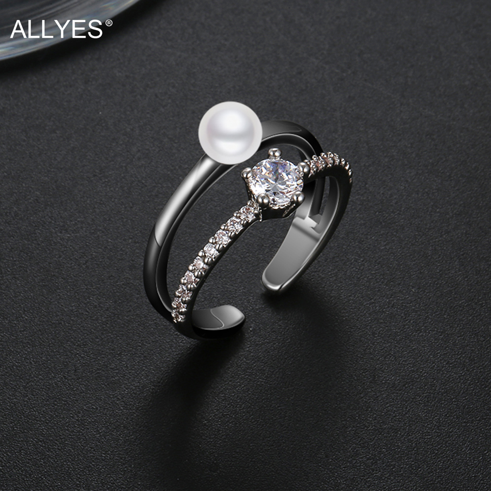 White Gold Pearl Ring Settings