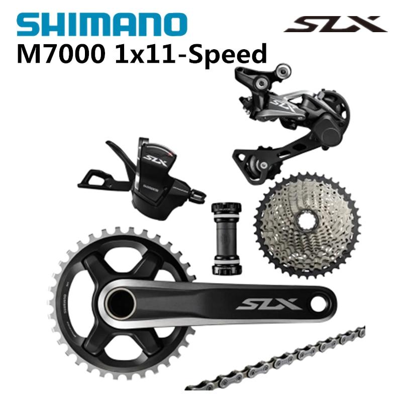 SHIMANO SLX M7000 1x11S 11S Speed Groupset and Hydraulic Disc Brake for MTB Mountain Bike shimano slx m7000 1x11s 11s speed groupset and hydraulic disc brake 170mm 175mm 32t 34t for mtb mountain bike