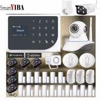 SmartYIBA GSM WI FI IOS приложение для Android Управление охранных умная розетка сигнализации Системы пожарной сигнализации Управление дома Приспособл