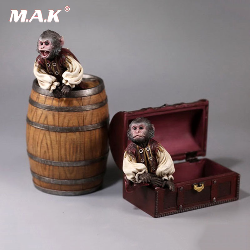 1/6 Scale Pirate Monkey Wine Barrel Treasure Box House Model Toy for 12 inches Action Figure Accessories Collections цена
