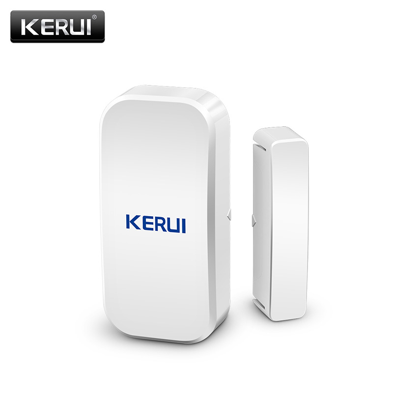 Image 2 - KERUI  433MHz Door Window Alarm Sensor Wireless Magnetic Switch Contact Detector Signaling for Intruder Security Alarm System-in Sensor & Detector from Security & Protection