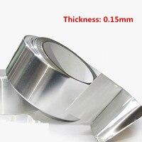 Алюминий Фольга лента 20 м * 0,15 мм Алюминий клейкой ленты Высокая Температура ленты герметичный водонепроницаемый Щит сигнала