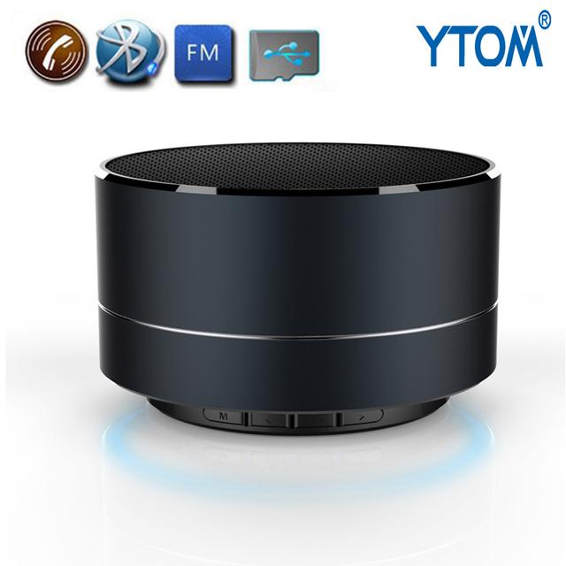 YTOM A10 Speakers LED De Aço do Metal Mini Speaker Portátil Sem Fio Bluetooth Mãos Livres Orador Inteligente Com Suporte FM Cartão SD