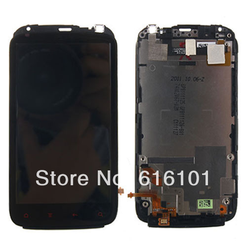 цены на Brand new  LCD Display Touch Digitizer  Frame  Assembly with Frame Bezel For HTC Sensation XE G18 Z715E 1pc/lot Free shipping