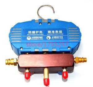Image 3 - Refrigerante manometro, manometro di Alta qualità, prova di Scossa di pressione gauge, Aria condizionata refrigerante strumento
