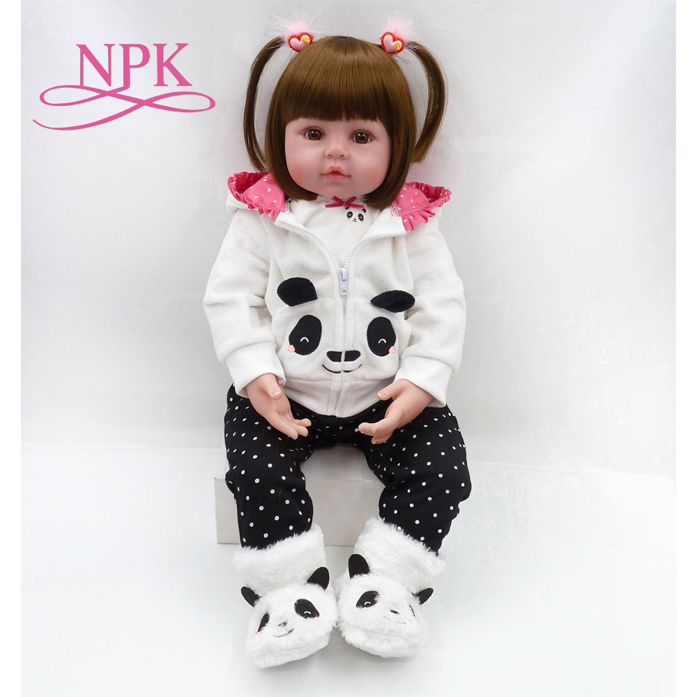 NPK Latest new 58cm Silicone Reborn Boneca Realista Fashion Baby Dolls For Princess Children Birthday Gift Bebes Reborn Dolls ...