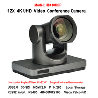 High Definition 4K 8MP 12x Optical Zoom Wide Angle 82 Degree 3G SDI IP HDMI USB3