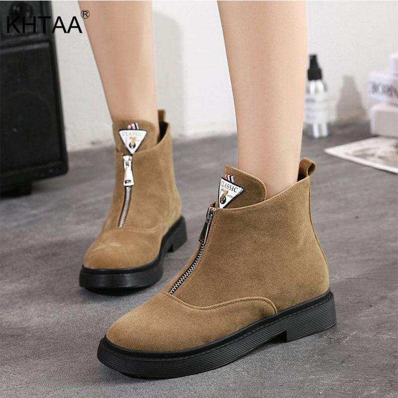 Faible Vintage Chaussures Casual Forme Sur Avant Zip Dame Slip Mode gFEqwF