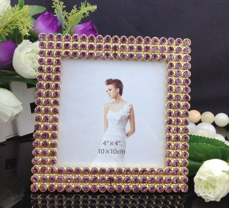 High End 4x4 Inch Mat Square Zinc Metal Picture Frames Bulk Purple
