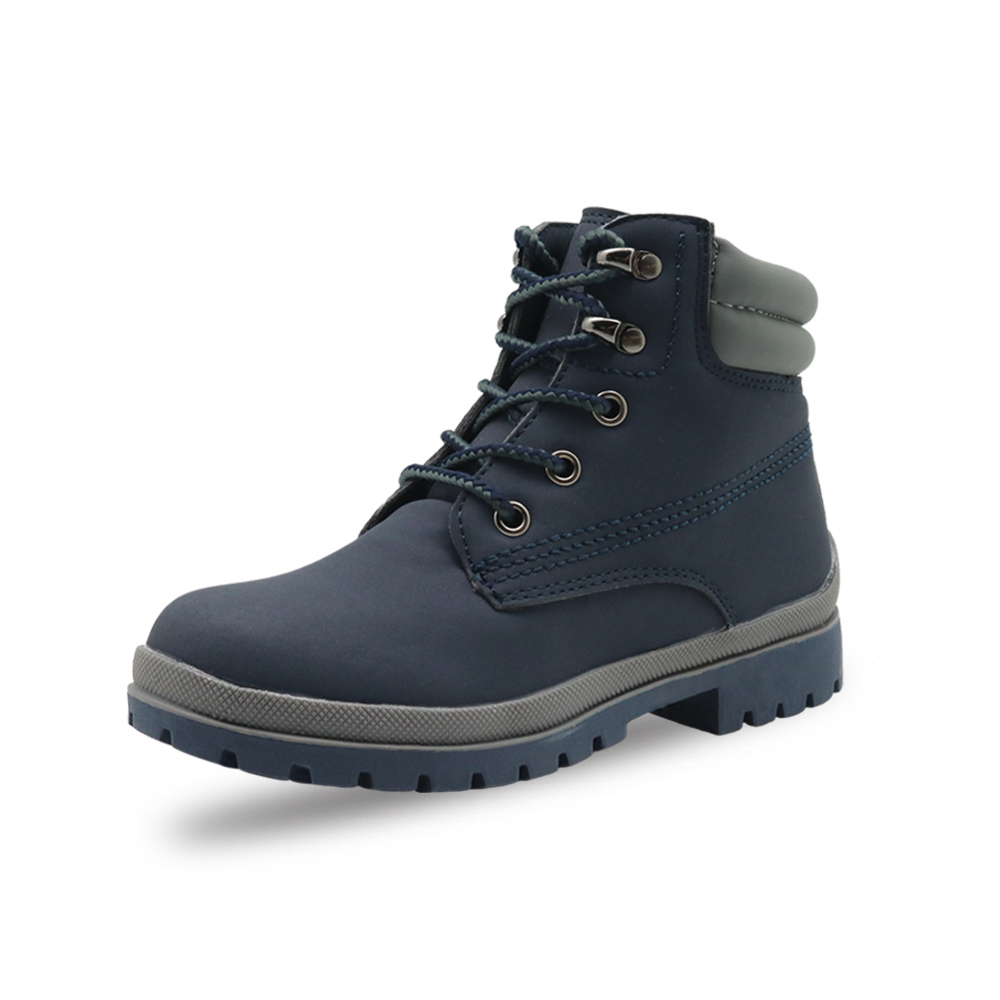 Image 3 - Apakowa Autumn Winter Boys Girls Classic Martin Boots Kids Lace up Fashion Motorcycle Ankle Boots Work Boots Childrens ShoesBoots   -