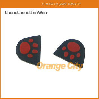 ChengChengDianWan Cat Paw Silicone Trigger Buttons Sticker L2 R2 Button Cover with Adhensive for PS4 Controller 200pairs/lot