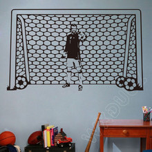 Boy Wall Decal Soccer Football Vinyl Sports Decor Kids Boy Nursery Art wall stickers for kids rooms Wall Decals U807(China)