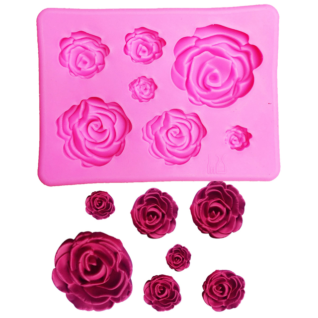 3d silicone mold rose shape mould for soap candy chocolate ice