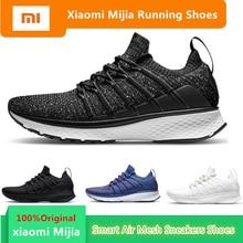 Original Mi Xiaomi Mijia Men Smart Running Shoes Outdoor Sport MI Air Mesh Sneakers 2 Breathable Knitting Vamp Tennis not chip