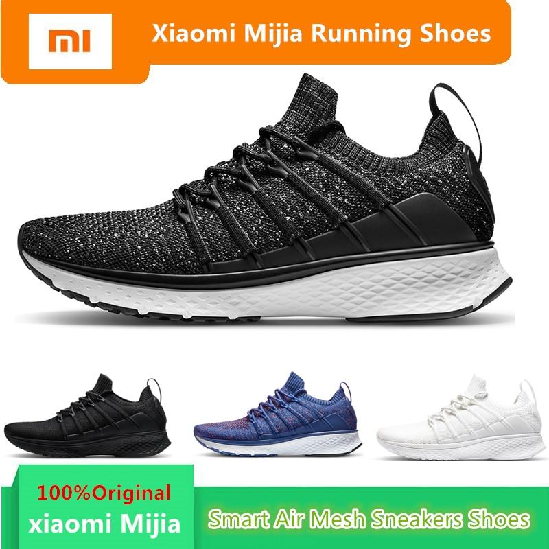 Original mi Xiao mi mi jia hommes chaussures de course intelligentes Sport de plein Air mi Air maille baskets 2 respirant tricot Vamp Tennis pas puce