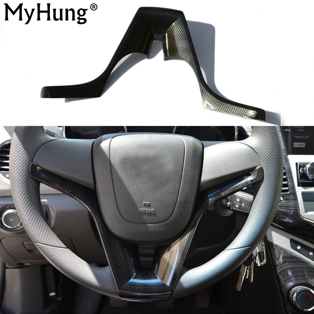 Steering wheel cover sticker for chevrolet cruze sedan hatchback 2011 2014 car styling steering wheel cover car styling