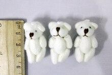 3 cm mini brinquedos de pelúcia urso encantos decoração presente de casamento presente de brinquedos para crianças