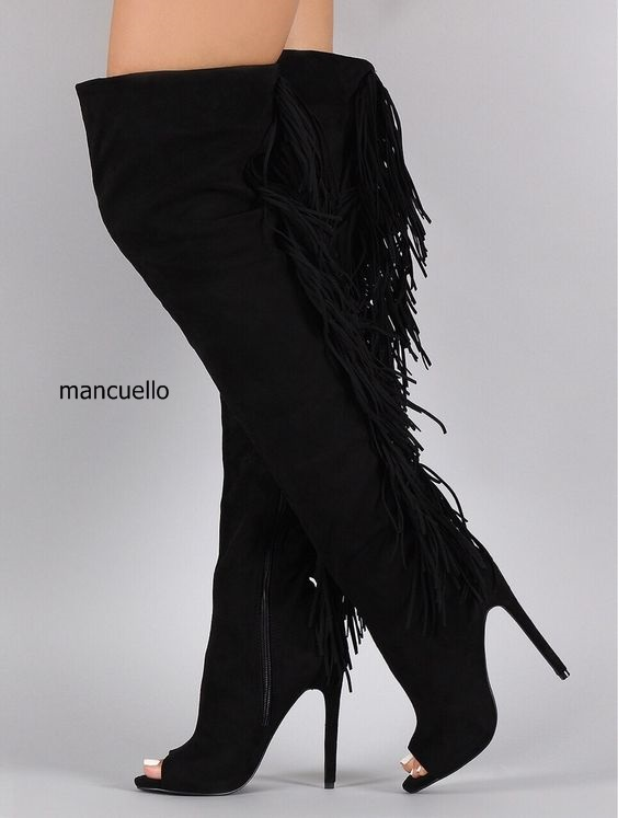 Hautes Design Noir Côté Nouveau Femmes dessus Genou Talon Gland Suede Toe Zip Long Peep Botte Stiletto Au Chic Bottes Du xqqZPpHB