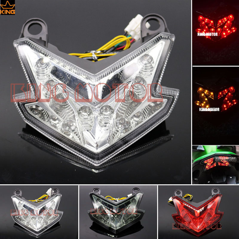 For KAWASAKI NINJA ZX6R ZX-6R 2013-2017 Z800 2013-2016 Z125 2016-2017 Motorcycle AIntegrated LED Tail Light Turn signal Blinker for kawasaki ninja 250 300 z250 2013 2016 motorcycle accessories integrated led tail light turn signal blinker clear