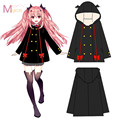 2016 Anime Owari no Seraph Seraph of The End Krul Tepes Cosplay Party Costume Fashion Hoodies Clothes Cute Hooded coat