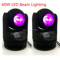 2pcs Led Moving Head Light 60W LED Beam Moving Head Light With 18 Channels For DMX