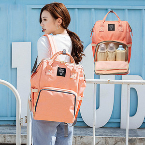 Image 5 - Nappy Backpack Bag Mummy Large Capacity Bag Baby Multi function Waterproof Travel Diaper Bags For Baby Care Droshipping