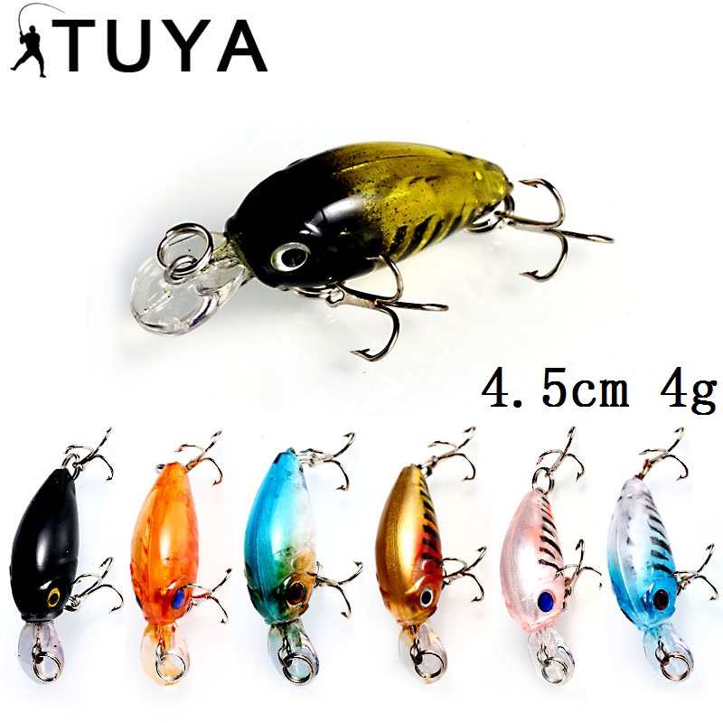 TUYA 1 pz Crankbait Minnow Wobblers Fishing Lure Esca artificiale Floating Trolling Crank Bait Hard Lure Pike Bass Catfish Carp