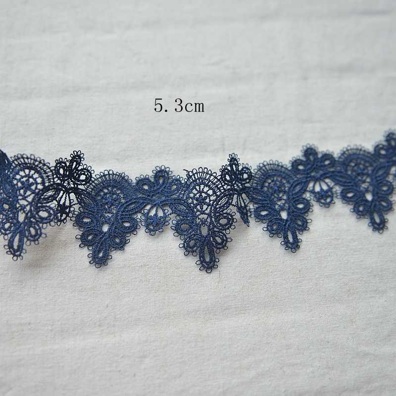 High-quality stretch elastic lace ribbon 53mm  Lace embroidered cotton Stretch lace  G029 hot sale