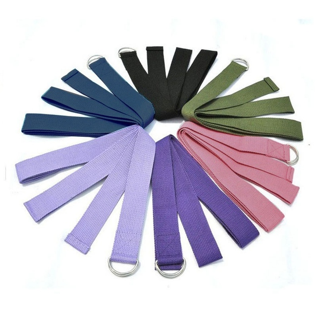 Colorful Cotton Yoga Stretch Strap