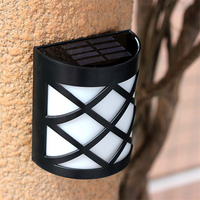 Luz LED Solar Lights Outdoor Garden Solar Led Wall Lamp Waterproof Pathway Solar Led Street Lights