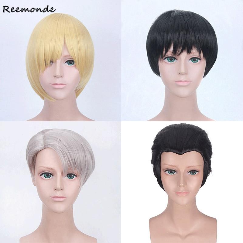 Anime YURI!!! On ICE Yuri Plisetsky Cosplay Costumes Katsuki Victor Nikiforov Otabek Altin Synthetic Wigs Women Men Girls Boys