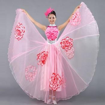 37382c62ff5 Danse Flamenco Costume danse moderne Performance vêtements pétale jupe  espagnole Flamenco robe ouverture danse