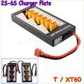 1 pcs de alta qualidade 2 S - 6 S Lipo bateria paralelo de carregamento carregador Board placa T ficha XT60 Plug para Imax B6 B6AC B8 6 em 1