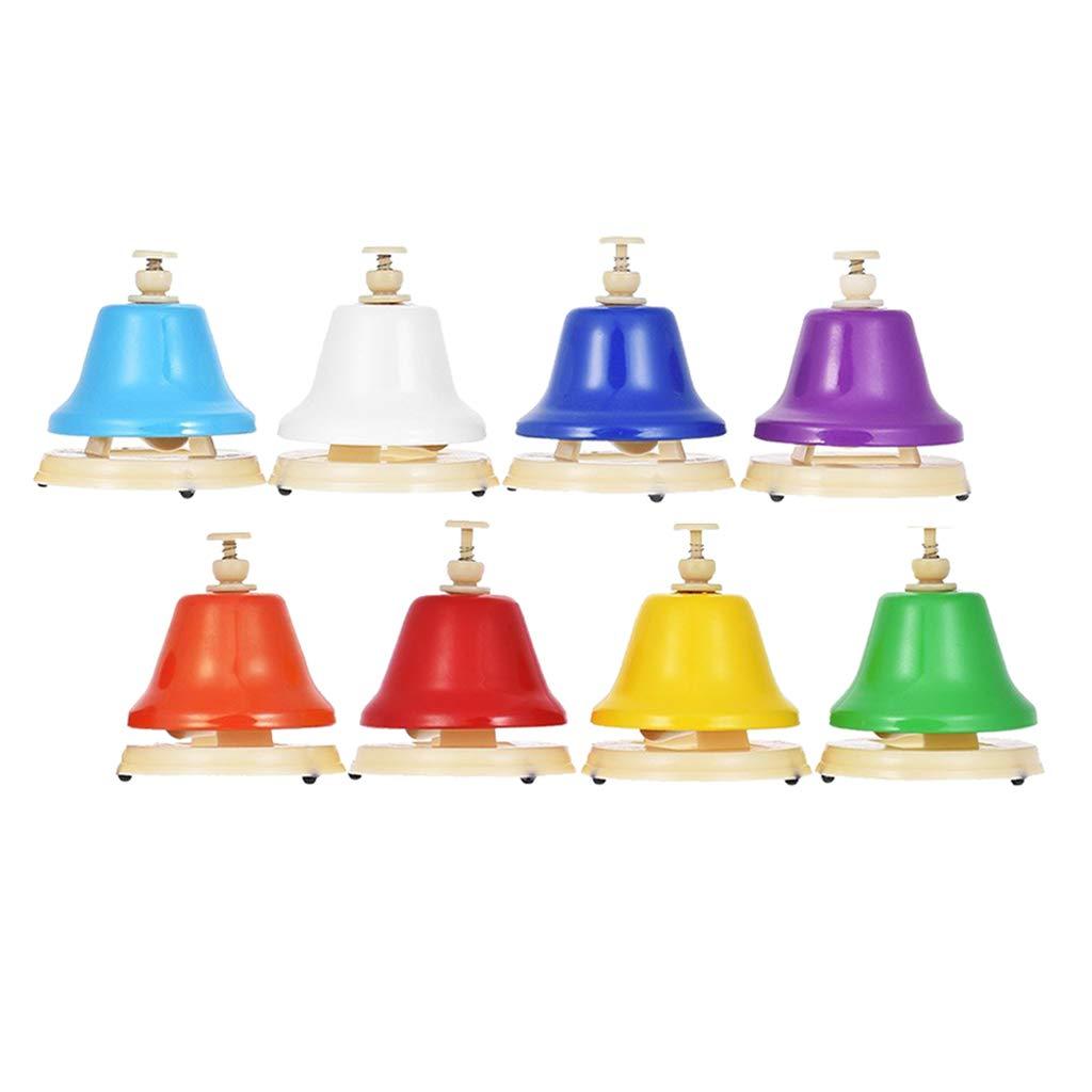 8 шт. ручной Колокольчик детский погремушка колокольчик музыкальный цвет Обучающие Игрушки для раннего развития подарок на день рождения д