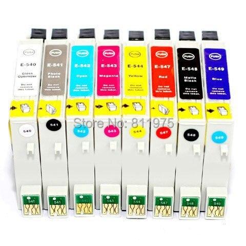 T0540T0541 T0543 T0544 T0547 T0548 T0549 8 farbe kompatible tintenpatrone Für EPSON...