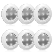 6PCS CL050 LED Intelligent Cabinet Light 0.5W Remote Control Bedroom Led Under Kitchen Closet Battery