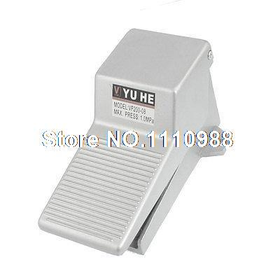 1/4NPT 2 Position 3 Way Nonslip Momentary Pneumatic Foot Pedal Valve Air Switch