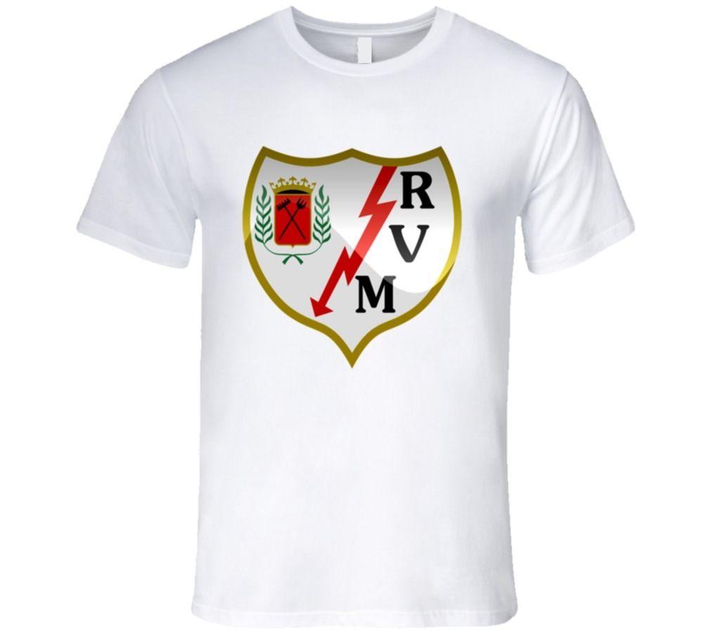 Rayo Vallecano Futbol Espanol La Liga Vallecas T Shirt T-Shirt for Men/Boy Short Sleeve Cool Tees MenS Fashion Black Cotton