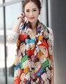 Шарф шифон платок длинные шарфы женщины пашмины обруч шали цю дон шутник печати леопарда шарф длинные шарфы l 1 шт./лот SW52